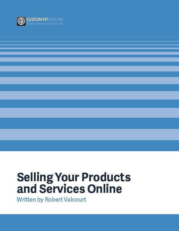 Selling Your Products and Services Online