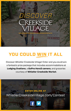 Whistler Creekside Village Contest Poster