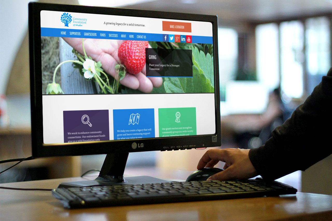 New Responsive Website for Community Foundation of Whistler