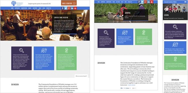 Community Foundation of Whistler web design