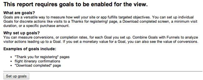 Google Analytics goals