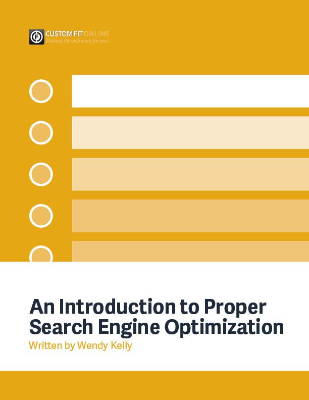 an introduction to search engine optimization Search engine optimization is the process of trying to get your web pages rank at the top of the search engine results for keywords that are important to you.