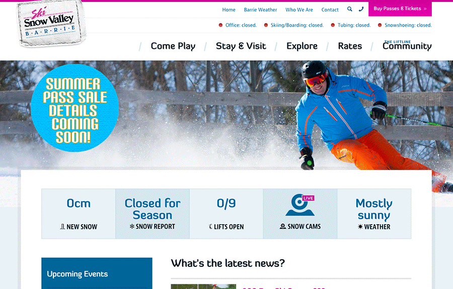 Ski Resort Website Design & Marketing