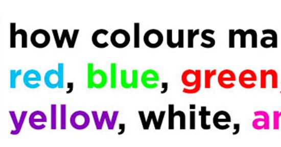 Colours and How They Make You Feel