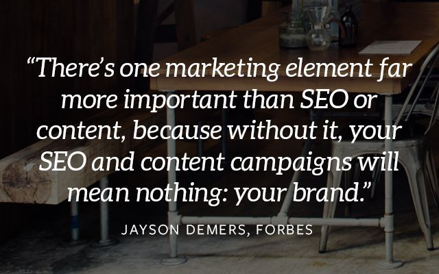 Brand is Most Important Marketing Element