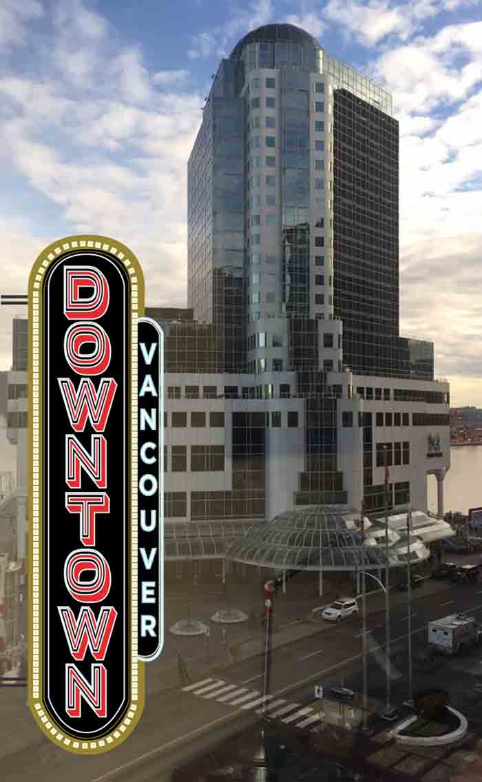Snapchat geofilter Downtown Vancouver