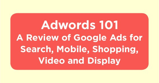 Adwords 101: A Review of Google Ads for Search, Mobile, Shopping, Video and Display