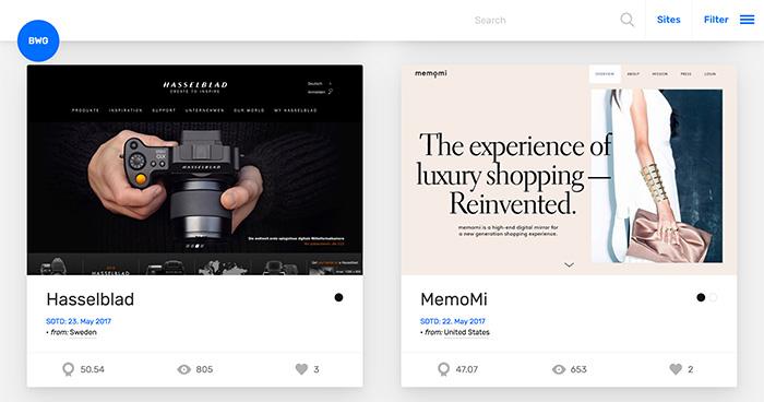 Website Design Inspiration   BWG. Best Web Design Inspiration Websites Alternatives to Pinterest