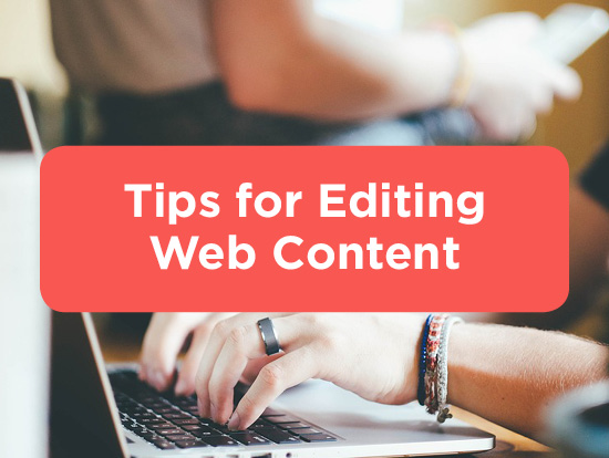 Tips for Editing Web Content - Title