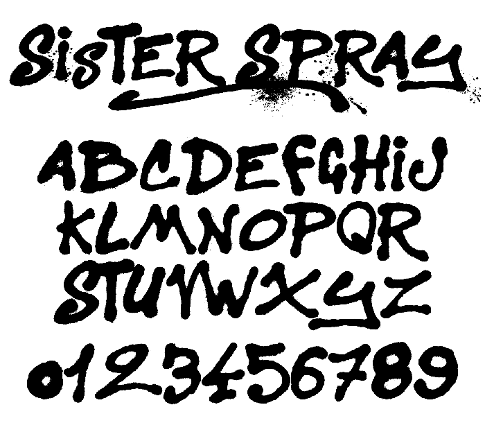 sister-spray-free-font