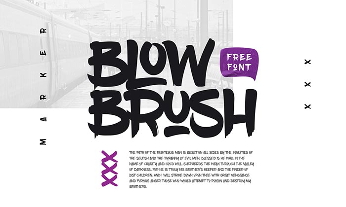 11 free fonts for design handwritten marker 3d retro
