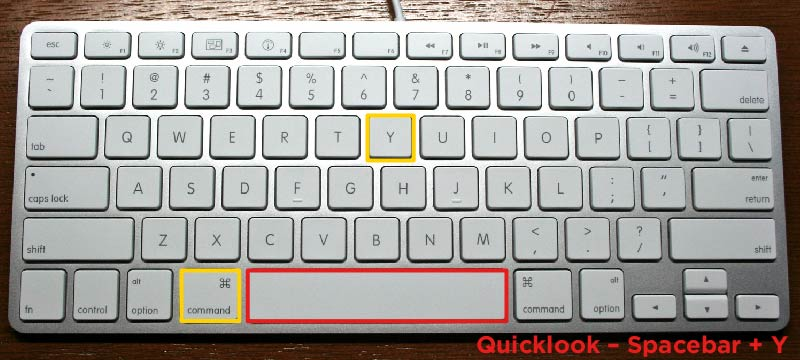 Apple Keyboard Shortcuts Quicklook