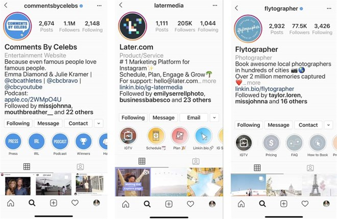 Optimized Instagram Profiles