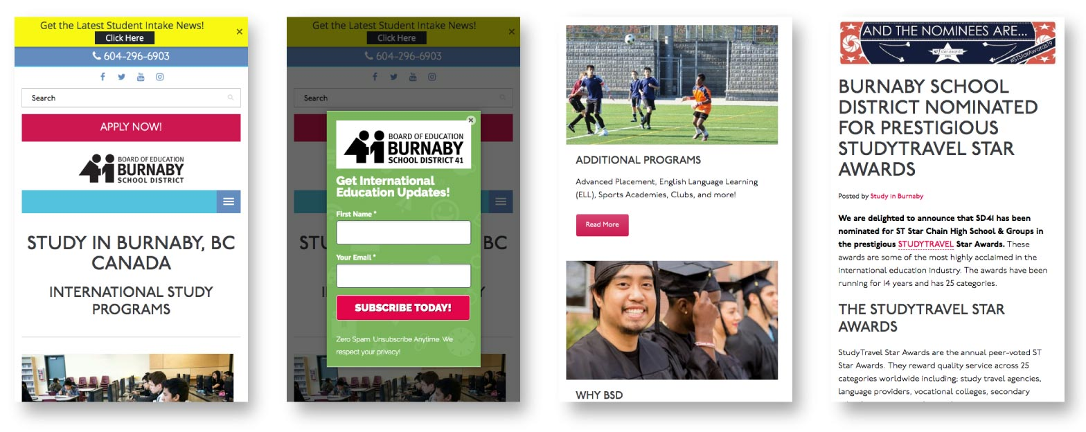 Study in Burnaby Responsive Web design
