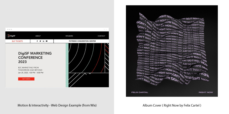 Album Covers & Web Design Trends - 8
