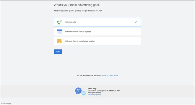 Google Ads 02 Main Advertising Goal