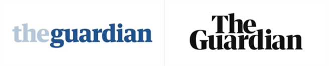 The Guardian Logo Transition